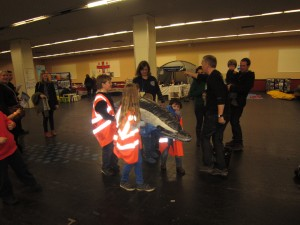 Practising a whale rescue at Whalefest 2012