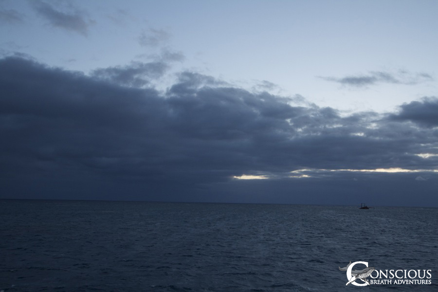 Ominous dark skies loomed to the north
